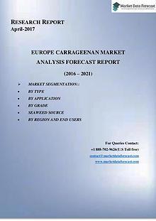 Europe Carrageenan market Growth Report