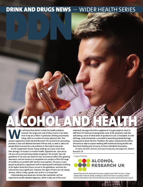 Drink and Drugs News DDN Alcohol and Health