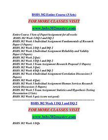 BSHS 382 MASTER Career Path Begins/bshs382master.com