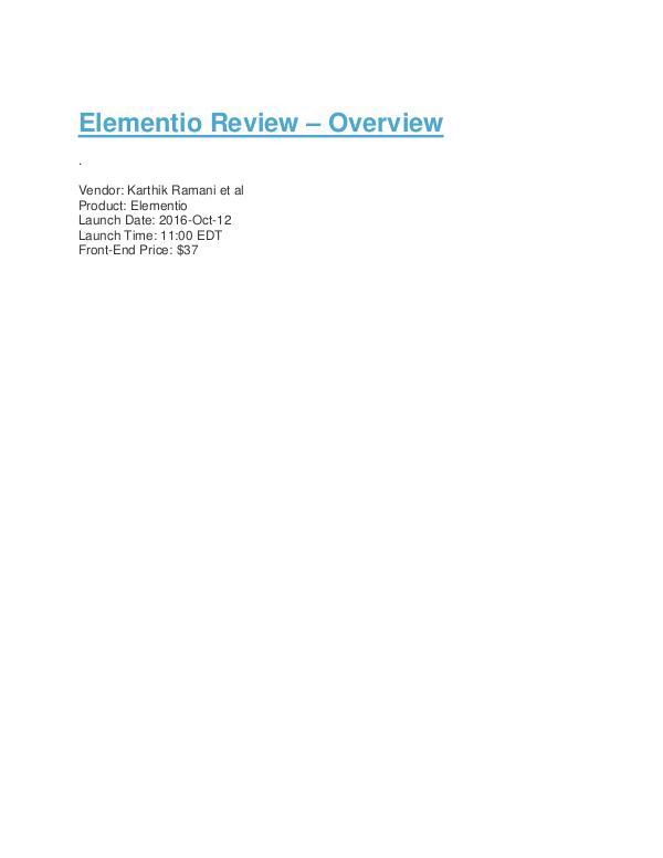 Elementio Review Bonus & Discount Elementio Review Bonus & Discount