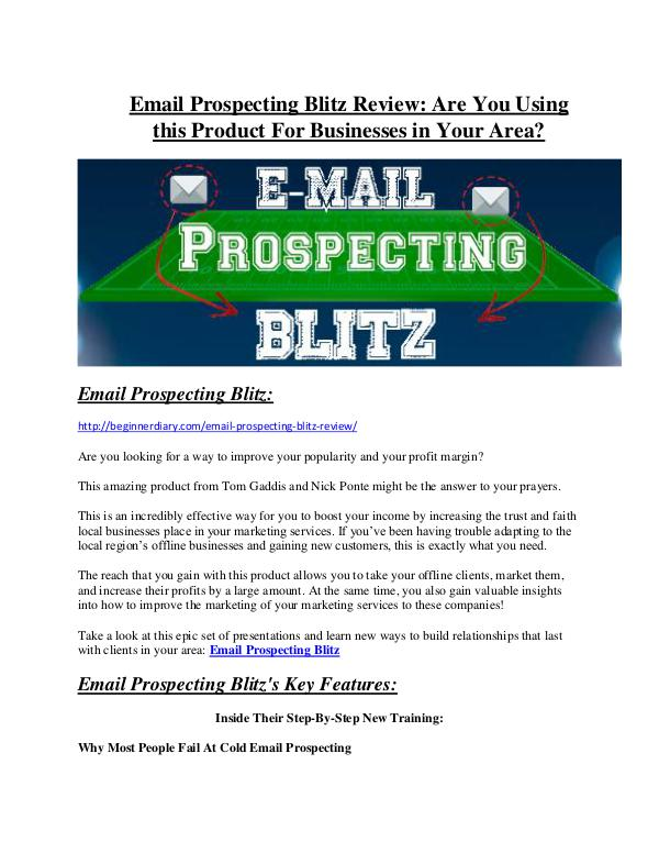 Marketing Email Prospecting Blitz review and (COOL) $32400 bonuses