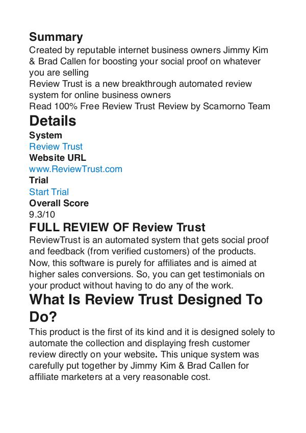 Review Trust Jimmy Kim PDF Review 1 Review Trust Jimmy Kim PDF Review 1