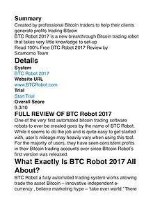 Bitcoin Robot Review 2017 Egor Kotov PDF 1