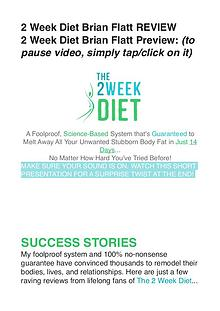 The 2 Week Diet DVD / Review Is Brian Flatt's Video Free Down