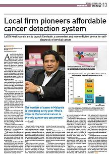 Cervisafe in Malaysia SME Newspaper