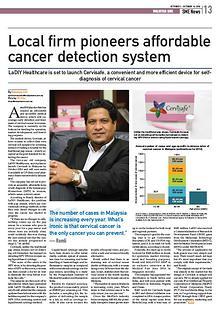 Cervisafe in Malaysia SME Newspaper
