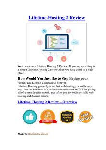 Life-time Hosting 2 Review - The Best Review For You