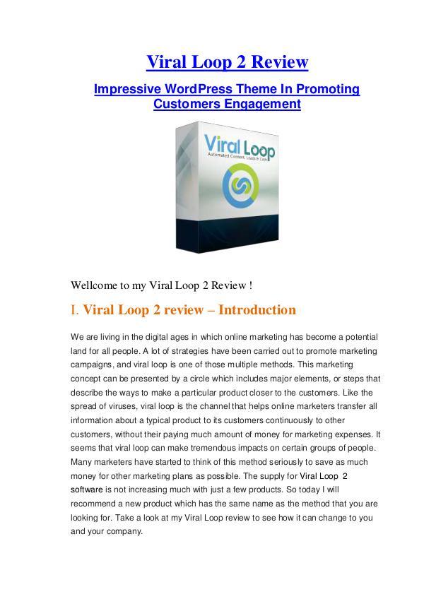 Viral Loop 2 Review - Low Cost & Huge Bonus Low Cost & Huge Bonuses