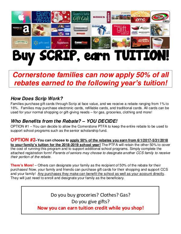 Scrip Tuition Rebate Program