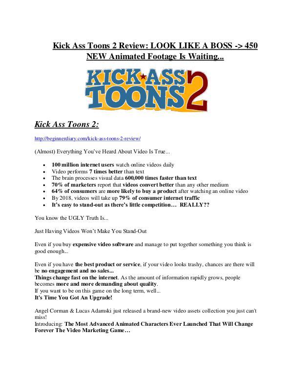 Kick Ass Toons 2 review & (GIANT) $24,700 bonus Kick Ass Toons 2 Review & GIANT Bonus