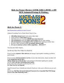 Kick Ass Toons 2 review & (GIANT) $24,700 bonus