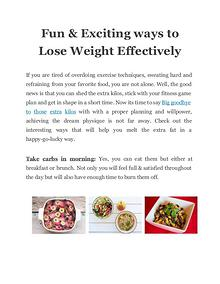 Fun & Exciting ways to Lose Weight Effectively