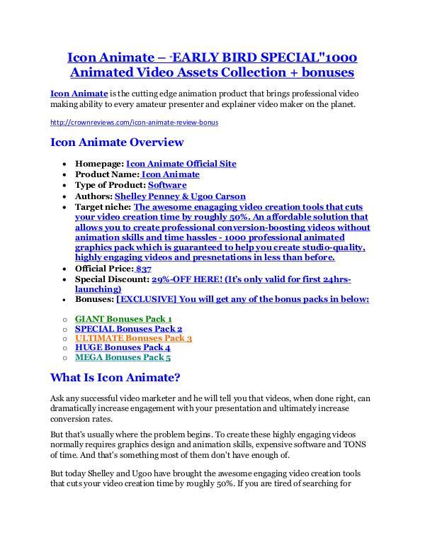 Icon Animate review & massive +100 bonus items