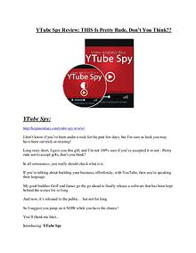 YTube Spy review - I was shocked!