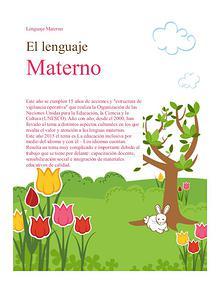 lenguaje materno