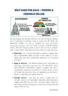 Automotive Group - Wheelchair Accessible Vehicles