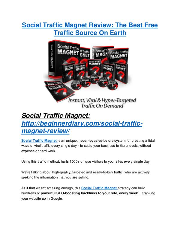 marketing Social Traffic Magnet Review and Social Traffic Magnet (EXCLUSIVE) bonuses pack