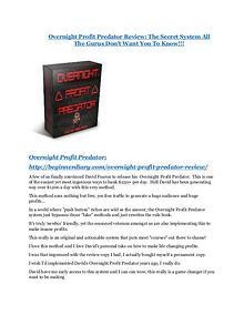 markeitng Overnight Profit Predator Review and (MASSIVE) $23,800 BONUSES