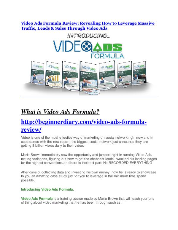 markeitng Video Ads Formula review and (MEGA) bonuses – Video Ads Formula