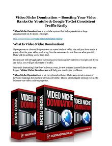 Video Niche Domination Review & (BIGGEST) jaw-drop bonuses