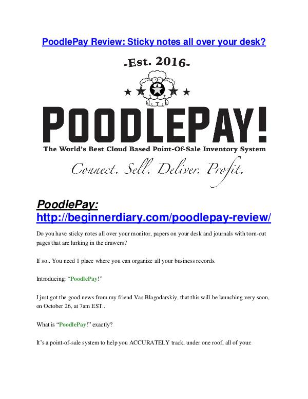 PoodlePay review and $26,900 bonus - AWESOME! PoodlePay review in detail and (FREE) $21400 bonus