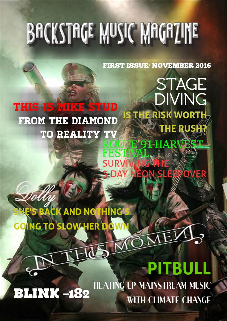 Backstage Music Magazine November 2016 Issue 1 Joomag Newsstand