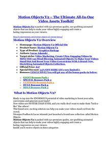 marketing Motion Objects V2 review demo-- Motion Objects V2 FREE bonus
