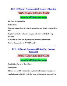 HCS 120 MENTOR Education Terms/hcs120mentor.com