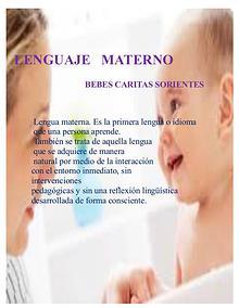 Lengua Materna Huellitas sonrientes