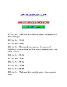 TEC 401 MART Redefine the Possible/tec401mart.com