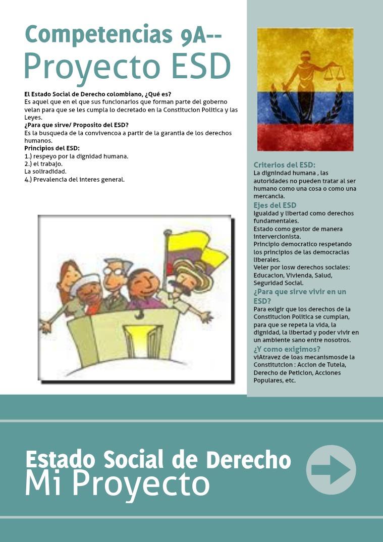 Proyecto competencias Ciudadanas 9A Estado Social de Derecho Estado Social de Derecho(clone)