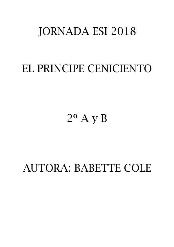 ESI: El príncipe Ceniciento 2 B 2018 ESI 2 B