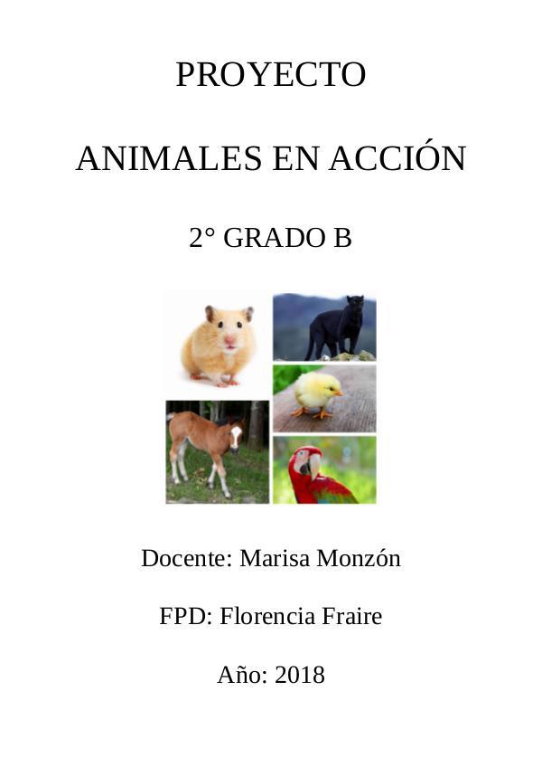 Animales en acción Animales en acción final 2 B