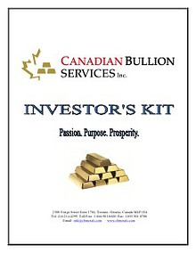 Canadian Bullion Services Investor's Kit
