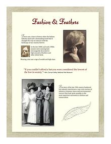 Bowman's Hats & Feathers Display