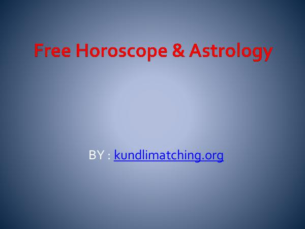 Free Horoscope & Astrology