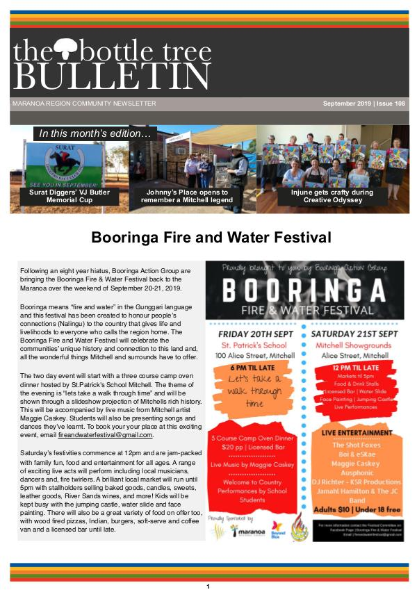 Bottle Tree Bulletin - September 2019