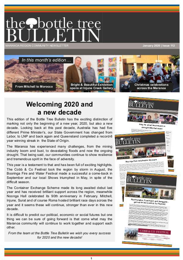 Bottle Tree Bulletin - January 2020