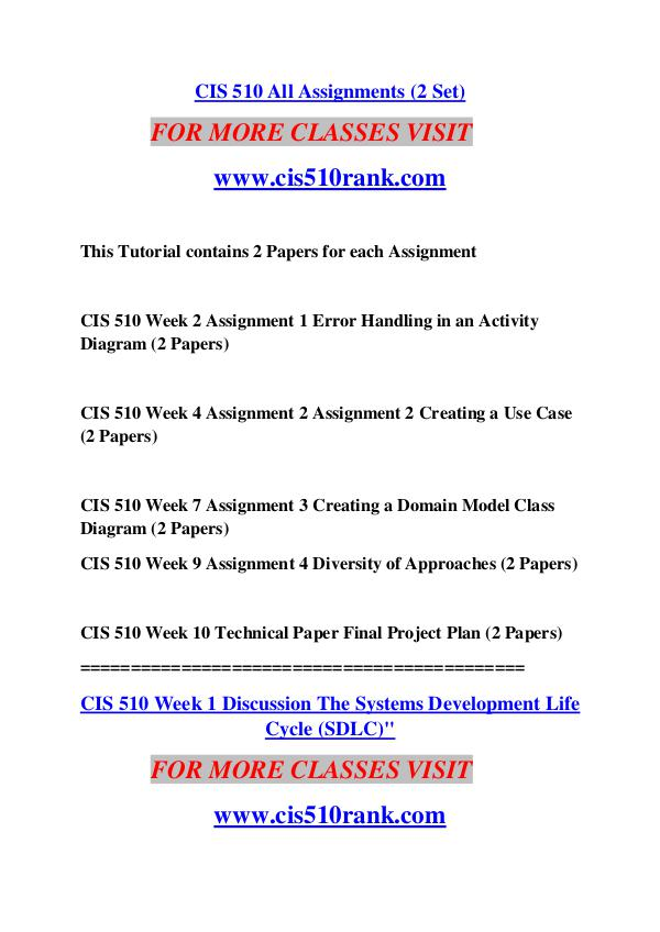 CIS 568 WEEK 6 LT: Information Systems Plan / Paper