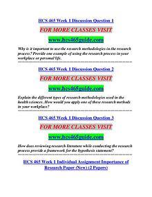 HCS 465 GUIDE Education Terms/hcs465guide.com
