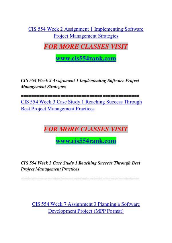 CIS 554 RANK Future Starts Here/cis554rank.com CIS 554 RANK Future Starts Here/cis554rank.com