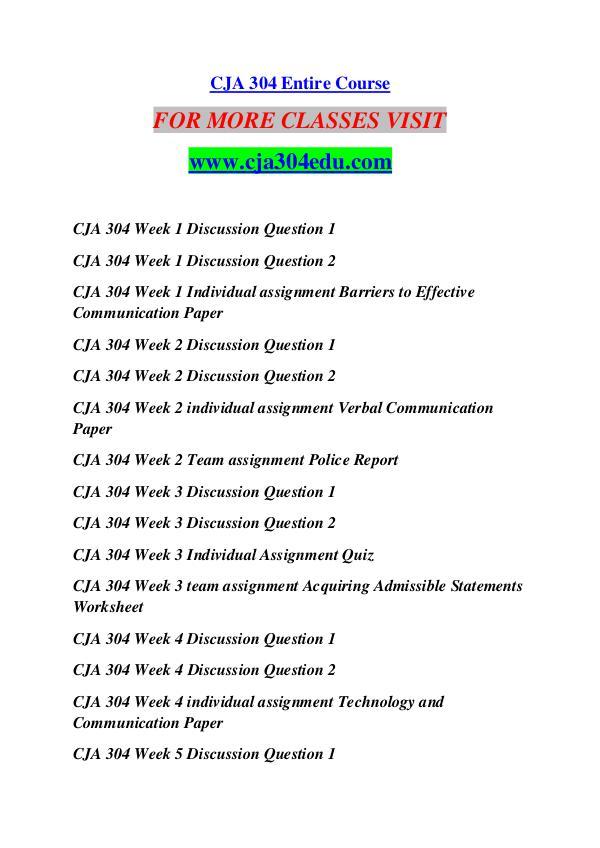 CJA 304 EDU Future Starts Here/cja304edu.com CJA 304 EDU Future Starts Here/cja304edu.com