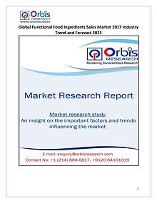 2017 Global Functional Food Ingredients Sales Industry