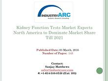 Kidney Function Tests Market | IndustryARC