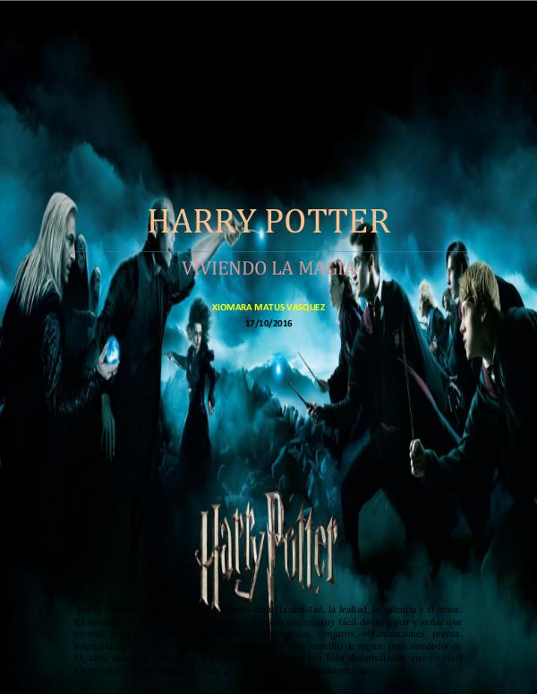 viviendo la magia harry potter