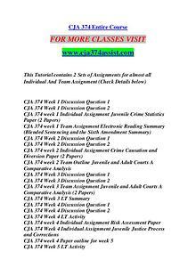 CJA 374 ASSIST Future Starts Here/cja374assist.com