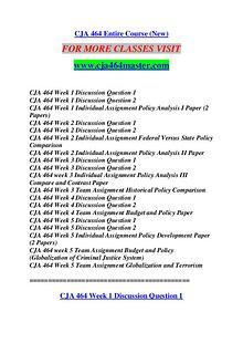 CJA 464 MASTER Future Starts Here/cja464master.com