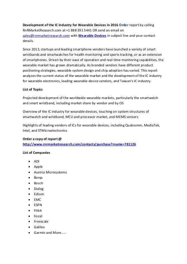 Why there is a Slowdown in the Wearable Market Worldwide Projected Development : Worldwide Wearable Market