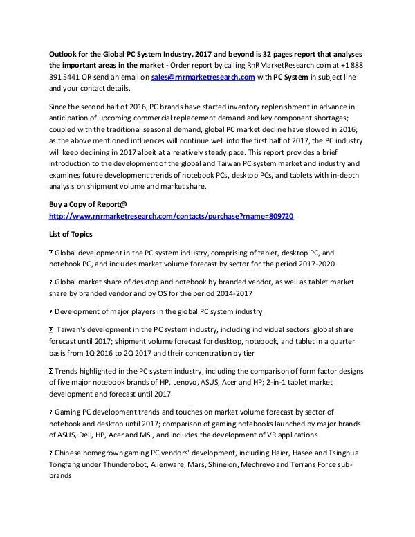 Amazon, Apple PC System Market Competitive Analysis Jan 2017