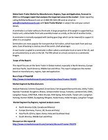 Semi-Trailer Market Business Venture Overview Report